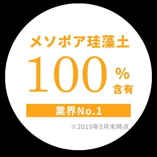 メソポア珪藻土100%含有 業界NO.1